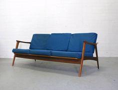 Scandinavische lounge bank sofa mid century vintage design huis