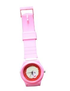 DOLLY PARTON wrist watch PINK band... original drawing