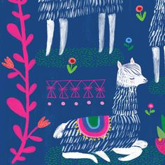 Happy Alpacas by Sarah Walsh by Tigersheepfriends on Etsy