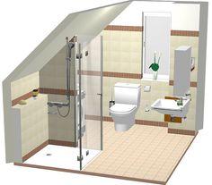badezimmer dachschräge mosaikfliesen spüle schrank | bad, Badezimmer