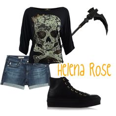 Helena Rose by aphdenbloodworth on Polyvore featuring AG Adriano Goldschmied and Converse