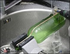 If you are looking for a way to up-cycle glass bottles, this might be for you.In this Instructable, we look at one of the ways to cut glass bottles lengthwise.You can make interesting bottle dishes, planters and other cool things.Some of the materials/tools used:Dremel Diamond Wheel (EZ lock) Dremel EZ Lock MandrelCopper Foil TapeSilicon Carbide PowderSuction ViseCordless rotary toolFor your own safety:Make sure to use a cordless rotary tool, not one with the cable. If you are Interested...