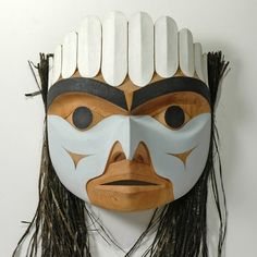 "a-u-mit • ""Spirit of Owl"" Mask (North) by Tim Paul, Nuu-chah-nulth (Hesquiaht) artist (W100804)"