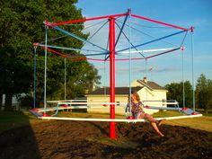 vintage merry-go-round. restored.
