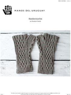 Hasbroucks Gloves in Manos del Uruguay Silk Blend. Discover more Patterns by Manos del Uruguay at LoveKnitting. The world's largest range of knitting supplies - we stock patterns, yarn, needles and books from all of your favorite brands.