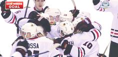 4/15/15 WCQF Blackhawks vs Predators Game 1: The Blackhawks celebrate Duncan Keith's 2nd OT game-winnerI would also like to point out the little mini-celebration of the three generations of Hossas down at the bottom.