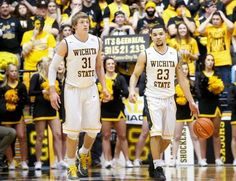 Wichita State's Ron Baker, left, and Fred VanVleet will play in the April 1 NABC All-Star game in Houston, site of the Final Four to be played the next day.