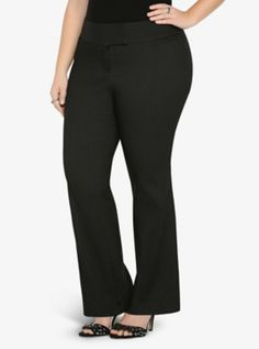 $60 All-Nighter Pant - Pinstriped Slim Boot Trouser