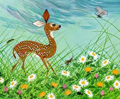 Bambi Finds the Meadow, 1963  Illustrated by Charley Harper