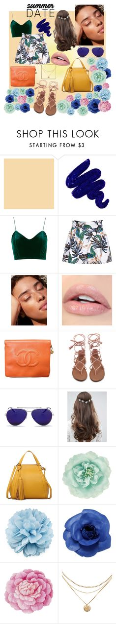 """Cute and comfy summer date outfit"" by ashleyjust ❤ liked on Polyvore featuring Obsessive Compulsive Cosmetics, Reiss, Chanel, Alexander McQueen, ASOS, Monsoon, Gucci and Ballard Designs"