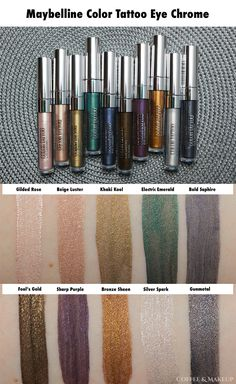 Maybelline Color Tattoo Eye Chrome Review, Swatches, and Looks