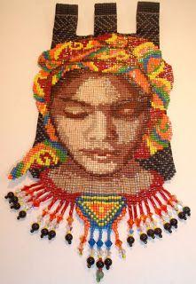 Loom with beads design Margie Deeb