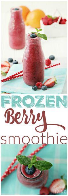 Frozen Berry Smoothie Simplistically Living