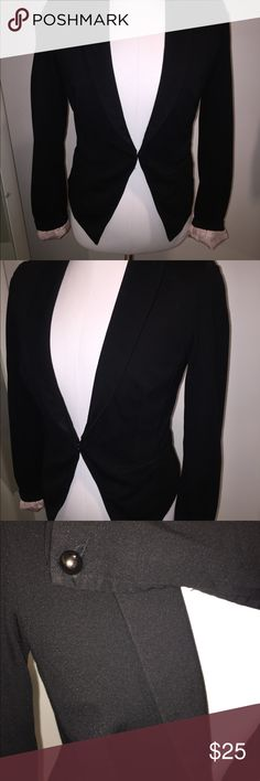 INC black blazer with optional pink cuffs Soft silky pink cuffs can be folded up INC International Concepts Jackets & Coats Blazers