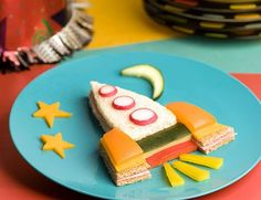 Rocket ship party sandwich #kids food