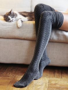 Free People Mediterranean Thigh Highs