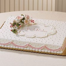 Best Wishes, adorable bridal shower cake by Publix Bakery Baby Shower Sheet Cakes, Bridal Shower Cakes, Bridal Showers, Cake Decorating Techniques, Cake Decorating Tips, Wedding Sheet Cakes, Birthday Sheet Cakes, Birthday Cake, Publix Cakes