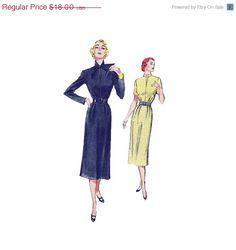 SALE Vintage 50s Misses Sewing Pattern Wiggle by retromonkeys, $14.40