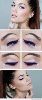 Lila Augen Make-up