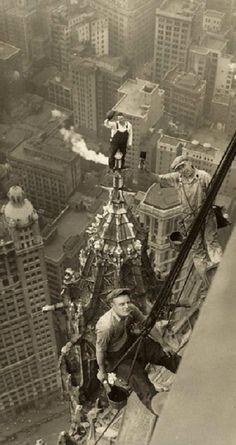 Construccion de rascacielos. Woolworth Building NY 1926