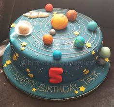 9 Space Themed Birthday Cakes Photo Space Themed Birthday Cake regarding Elegant space birthday cake Themed Birthday Cakes, Birthday Party Favors, Themed Cakes, 5th Birthday, Solar System Cake, Planet Cake, Galaxy Cake, Festa Party, Baking With Kids