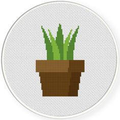 FREE for May 23rd 2016 Only - Flower Pot Decorative Cross Stitch Pattern