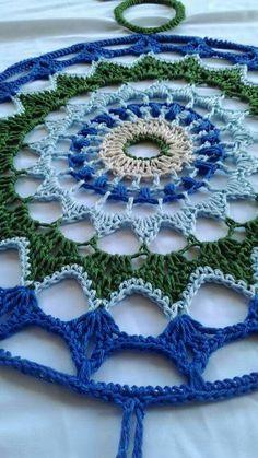 ONE Crochet Earrings Pattern, Earring pattern, PDF File - Crochet openwork hoop earrings - PDF, pattern for advanced crocheters Mode Crochet, Crochet Art, Freeform Crochet, Crochet Stitches, Loom Knitting Patterns, Crochet Patterns, Crochet Earrings Pattern, Mandala Yarn, Yarn Wall Art