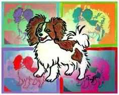Papillon Dog Art 8 x 10 Print Poster of Painting by SwiftArtStudio, $10.00