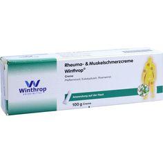 RHEUMA- & Muskelschmerzcreme Winthrop:   Packungsinhalt: 100 g Creme PZN: 12483162 Hersteller: Zentiva Pharma GmbH Preis: 5,69 EUR inkl.…