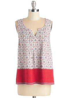 Jubilant Jaunt Top. Any outing can be made lovelier by wearing this cheery printed top! #multi #modcloth