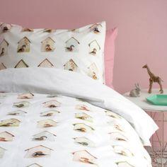Vogelhuisjes dekbedovertrek | Producten | Studio ditte