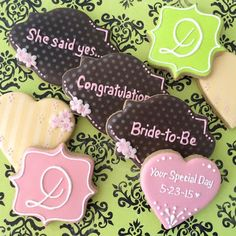 XOXO Deliveries Wedding Cookie Collection.  See our website to order these beautiful cookies. XOXO Deliveries features artisan decorated cookies for all of life's special moments. Celebrate life's moments.  Personalize our artisan decorate cookies for every occasion.