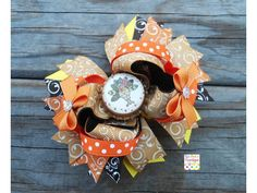 Tom Tom Turkey Thanksgiving Boutique bow by LizAnnsbowtique, $8.50