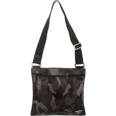 32db3e568261 Pre-owned Prada Tessuto Camouflage Messenger Bag ( 295) ❤ liked on Polyvore  featuring bags