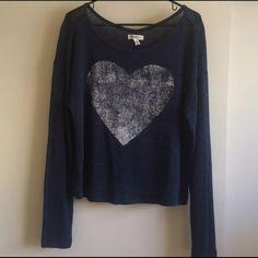 Long sleeve heart shirt Never worn Aeropostale Tops Tees - Long Sleeve