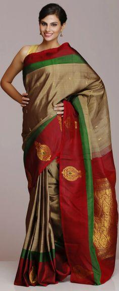 Kanjeevaram / Kanjivaram Silk Saree. original pin by @webjournal