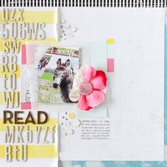 read – or what to do with alphabet sticker leftovers | #scrapbooking page by Janna Werner for #ColorHills