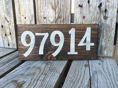 Personalized zip code wood sign fun seasonal home by jodyaleavitt