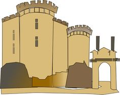 Vektor Clip Ratte Bastille-Burg