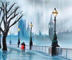 Rainy day in #London by Gordon Bruce #art