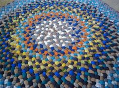 recycled wool scrap rug