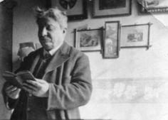 Giovanni Pascoli reading a book