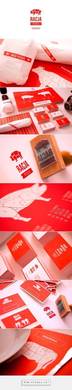 RACJA MIĘSA packaging branding on Behance curated by Packaging Diva PD. Guess it's pork for dinner : ) PD Corporate Identity Design, Brand Identity Design, Business Branding, Logo Branding, Branding Design, Logo Design, Letterhead Design, Graphic Design Typography, Brand Packaging