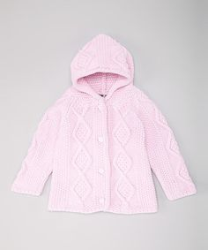 Look at this #zulilyfind! Pink Knit Hoodie Cardigan - Infant by fingerprints new york #zulilyfinds