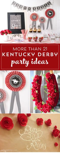 Printable Kentucky Derby Party Decorations and Ideas- printables for kentucky derby party invitations and craft ideas #kentuckyderby #derby #derbyparty