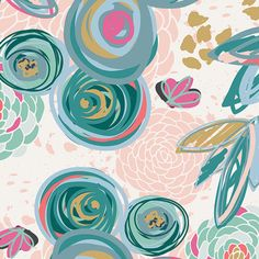 KNIT Sprayed Blooms Subtle - Half Yard - from Chalk and Paint by Caroline Hulse - Art Gallery Fabrics by ModernQuilter on Etsy https://www.etsy.com/listing/490693485/knit-sprayed-blooms-subtle-half-yard