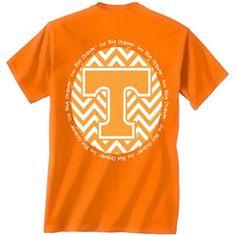 Tennessee Vols Volunteer Chevron Big Orange Logo Girlie Bright T Shirt | SimplyCuteTees