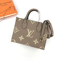 Louis Vuitton Monogram Empreinte Onthego PM M45779 - Louis Vuitton Handbags Lv Handbags, Louis Vuitton Handbags, Louis Vuitton Monogram, Louis Vuitton Damier, Monogram Canvas, Cowhide Leather, Dust Bag, Best Gifts, Beige
