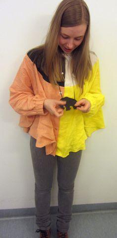 Shirt; Marimekko, Jewellery: Pieces, Jeans; Superfine Marimekko, Rain Jacket, Windbreaker, Dress Up, Jewellery, Jeans, Jackets, Shirts, Outfits