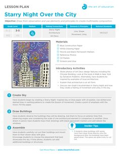 Starry Night Over The City: Free Lesson Plan Download
